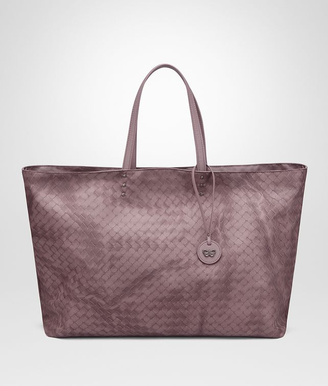BOTTEGA VENETA LARGE TOTE BAG IN GLICINE INTRECCIOLUSION Top Handle Bag D fp