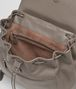 BOTTEGA VENETA BACKPACK IN STEEL NAPPA LEATHER, INTRECCIATO DETAILS Crossbody bag D dp