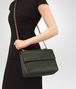 BOTTEGA VENETA MEDIUM OLIMPIA BAG IN MOSS INTRECCIATO NAPPA LEATHER Shoulder Bag Woman ap