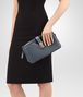 BOTTEGA VENETA MEDIUM CLUTCH BAG IN KRIM INTRECCIATO NAPPA Crossbody bag Woman ap