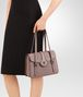 BOTTEGA VENETA MEZZALUNA BAG IN DESERT ROSE INTRECCIATO NAPPA Top Handle Bag D ap