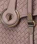BOTTEGA VENETA MEZZALUNA BAG IN DESERT ROSE INTRECCIATO NAPPA Top Handle Bag D ep