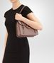 BOTTEGA VENETA MEZZALUNA BAG IN DESERT ROSE INTRECCIATO NAPPA Top Handle Bag D lp