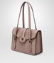 BOTTEGA VENETA MEZZALUNA BAG IN DESERT ROSE INTRECCIATO NAPPA LEATHER Top Handle Bag D rp