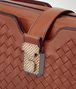 BOTTEGA VENETA MEDIUM CLUTCH BAG IN CALVADOS INTRECCIATO NAPPA Crossbody bag Woman ep