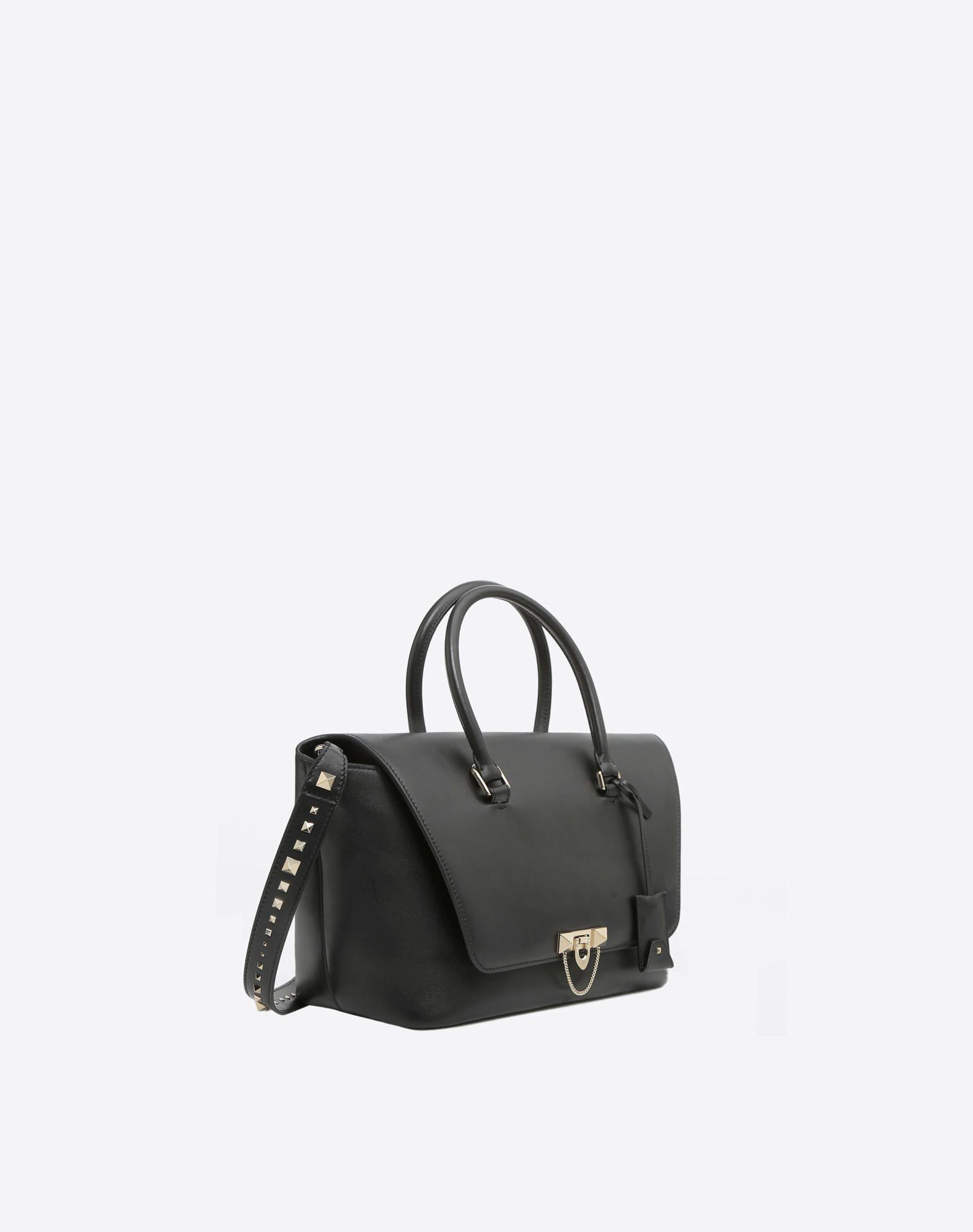VALENTINO GARAVANI Demilune Double Handle Bag HANDBAG D r