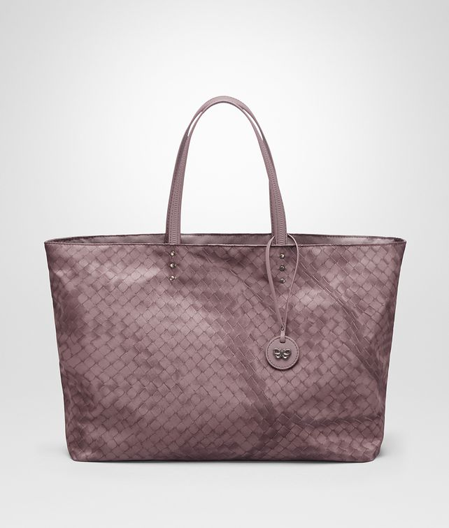 BOTTEGA VENETA MEDIUM TOTE BAG IN GLICINE INTRECCIOLUSION Top Handle Bag Woman fp