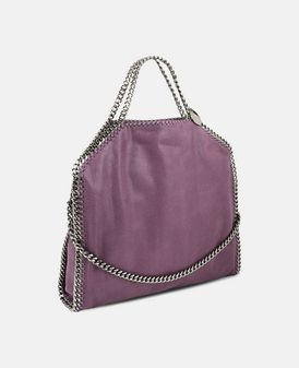 Amethyst Falabella Shaggy Deer Fold Over Tote