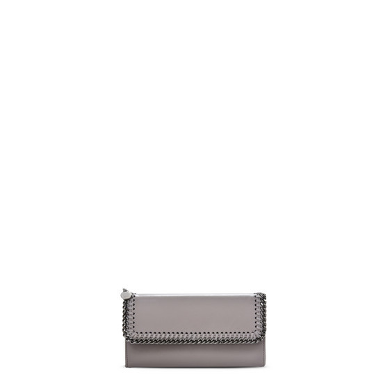 Taupe Falabella Box Continental Wallet