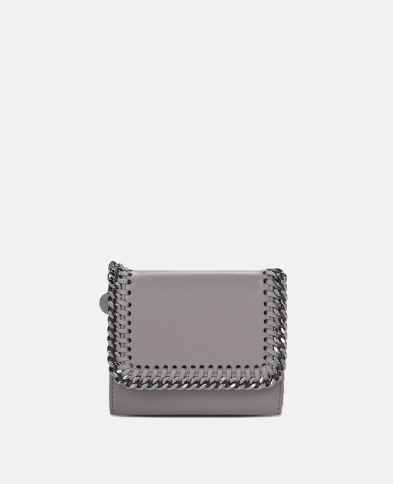 Taupe Falabella Box Small Flap Wallet
