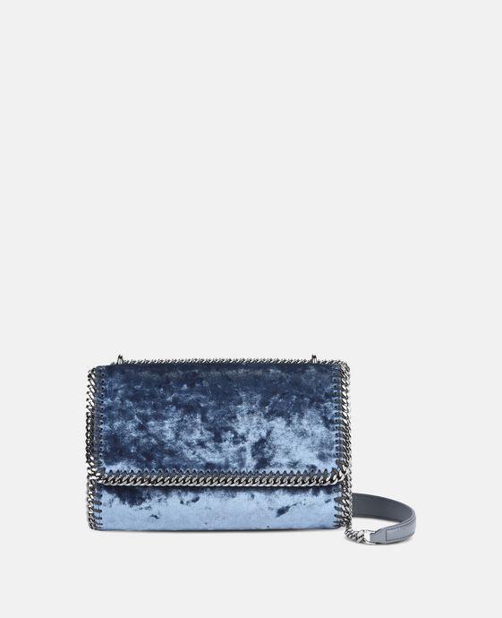 Blue Velvet Falabella Shoulder Bag