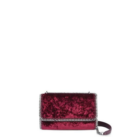 Red Velvet Falabella Shoulder Bag