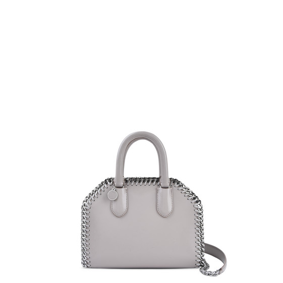Taupe Falabella Box Mini Top Handle Bag