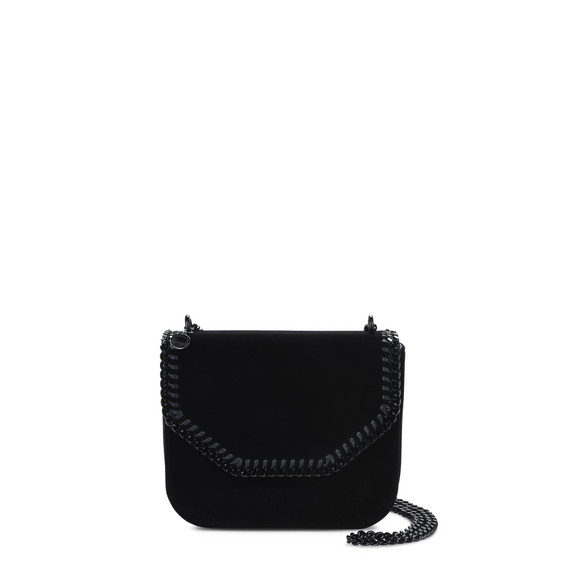 Velvet Black Falabella Box Large Shoulder Bag