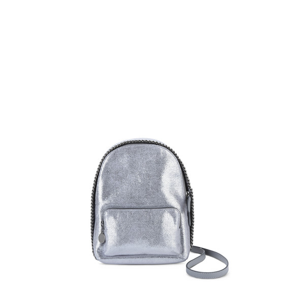 Silver Falabella Chamois Mini Backpack
