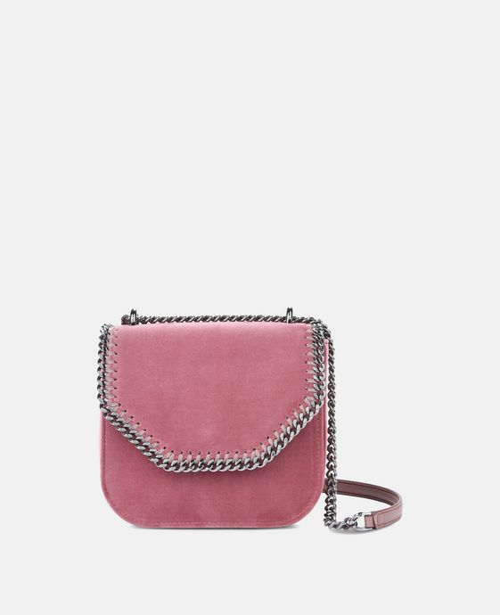 Velvet Pink Falabella Box Mini Shoulder Bag