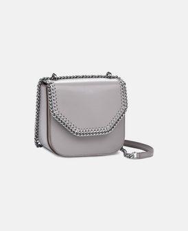 Taupe Falabella Box Mini Shoulder Bag