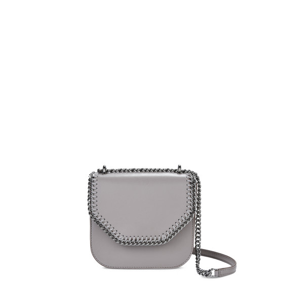 Taupe Falabella Box Mini Shoulder Bag