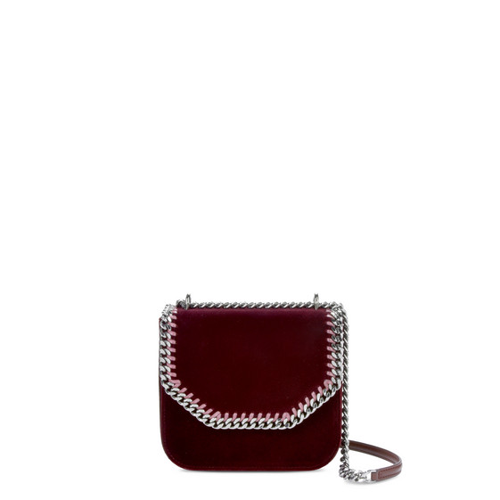 Velvet Red Falabella Box Medium Shoulder Bag
