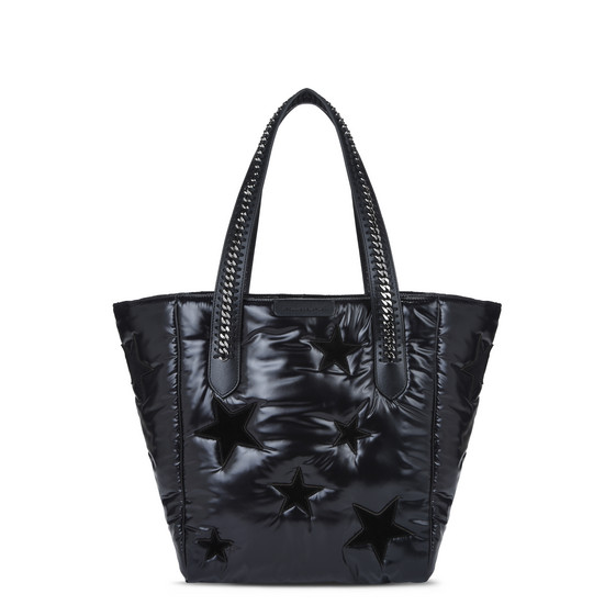 Black Star Print Falabella Go Shoulder Bag