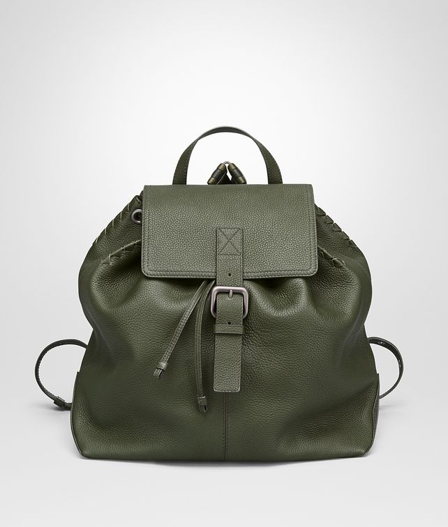 BOTTEGA VENETA BACKPACK IN MOSS CERVO Messenger Bag Man fp