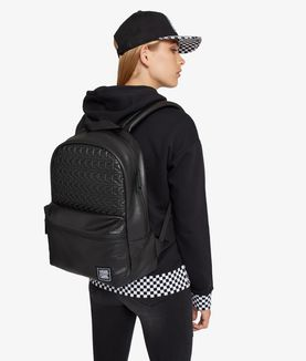 KARL LAGERFELD VANS X KARL LAGERFELD LEATHER BACKPACK