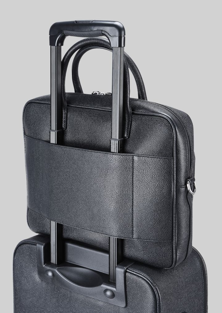 GIORGIO ARMANI LEATHER BRIEFCASE WITH HANDLE Briefcase Man a