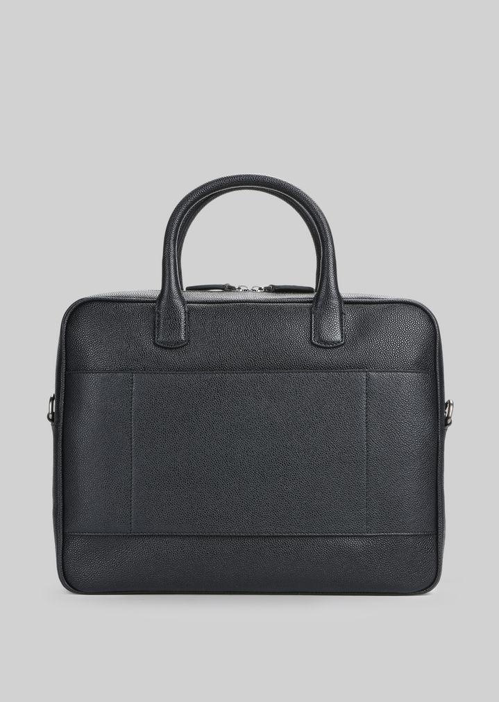 GIORGIO ARMANI LEATHER BRIEFCASE WITH HANDLE Briefcase Man d
