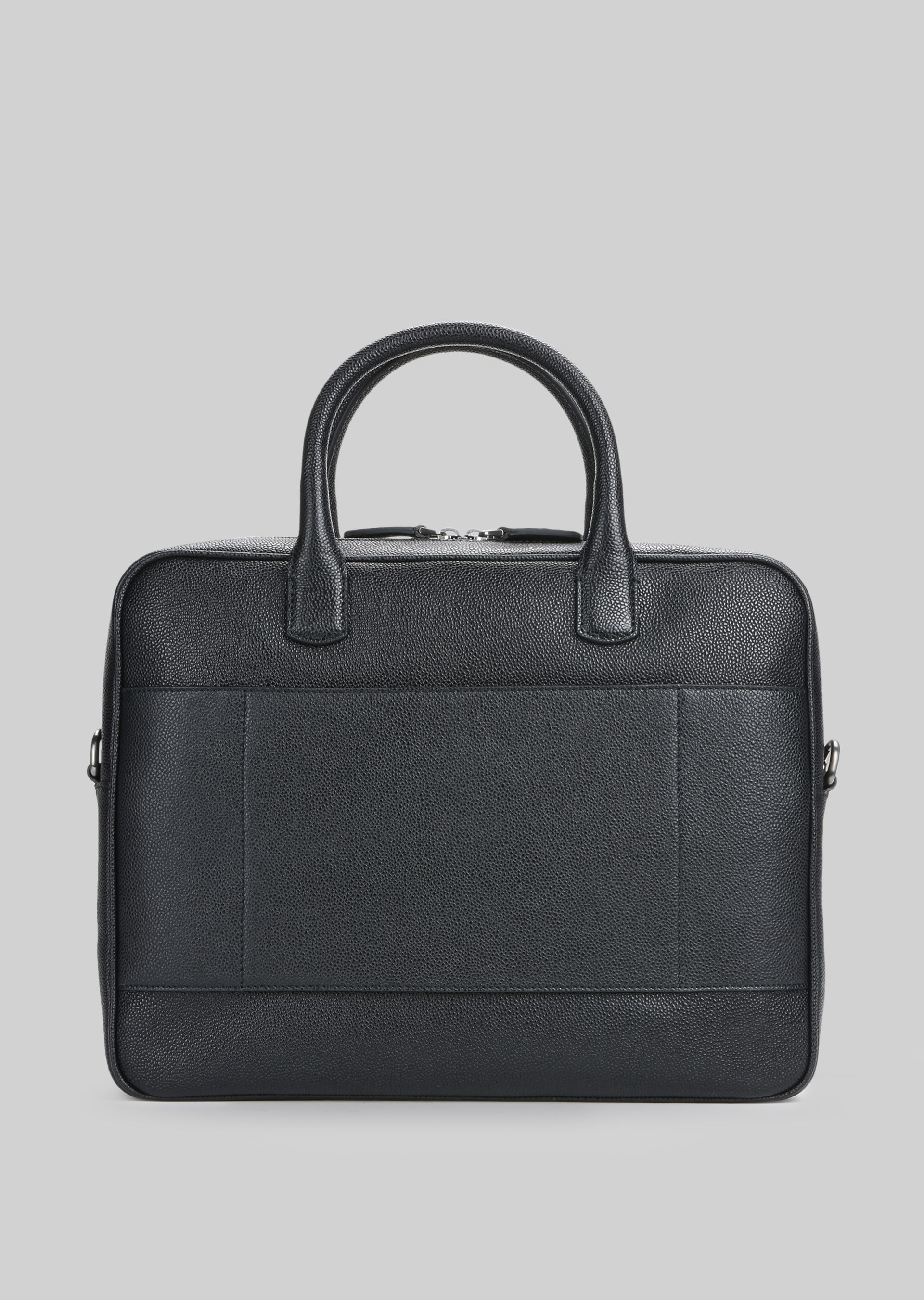 GIORGIO ARMANI LEATHER BRIEFCASE WITH HANDLE Briefcase U d