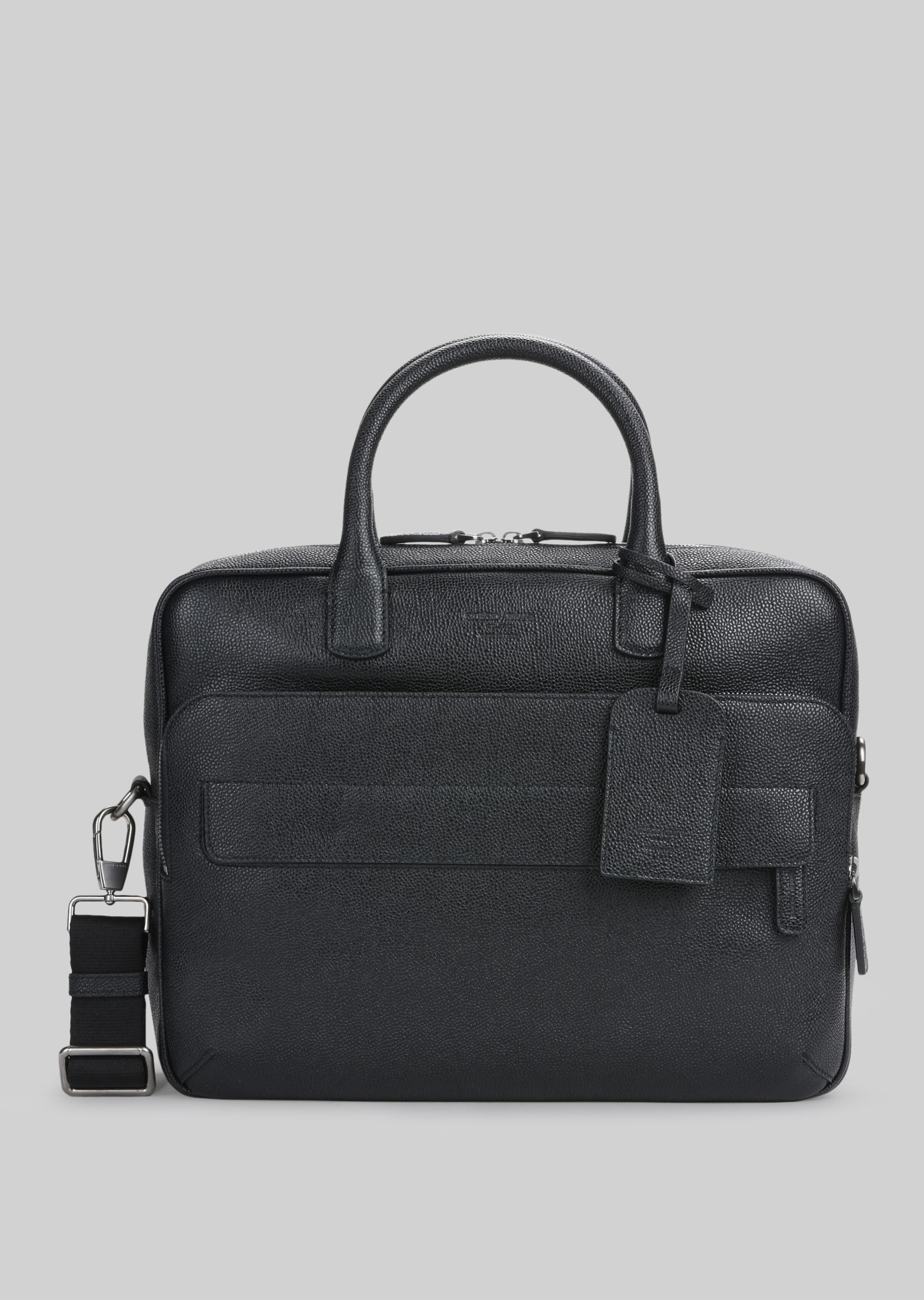 GIORGIO ARMANI LEATHER BRIEFCASE WITH HANDLE Briefcase U f