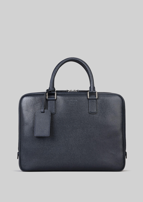 GIORGIO ARMANI LEATHER BRIEFCASE WITH HANDLE Briefcase U f