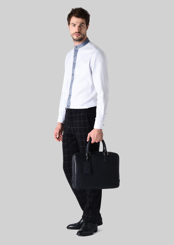 GIORGIO ARMANI LEATHER BRIEFCASE WITH HANDLE Briefcase U r