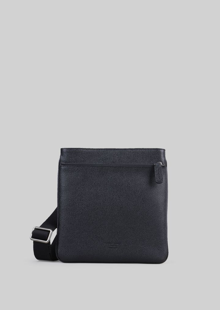 FLAT LEATHER BAG WITH SHOULDER STRAP  4103a8cd21a5c