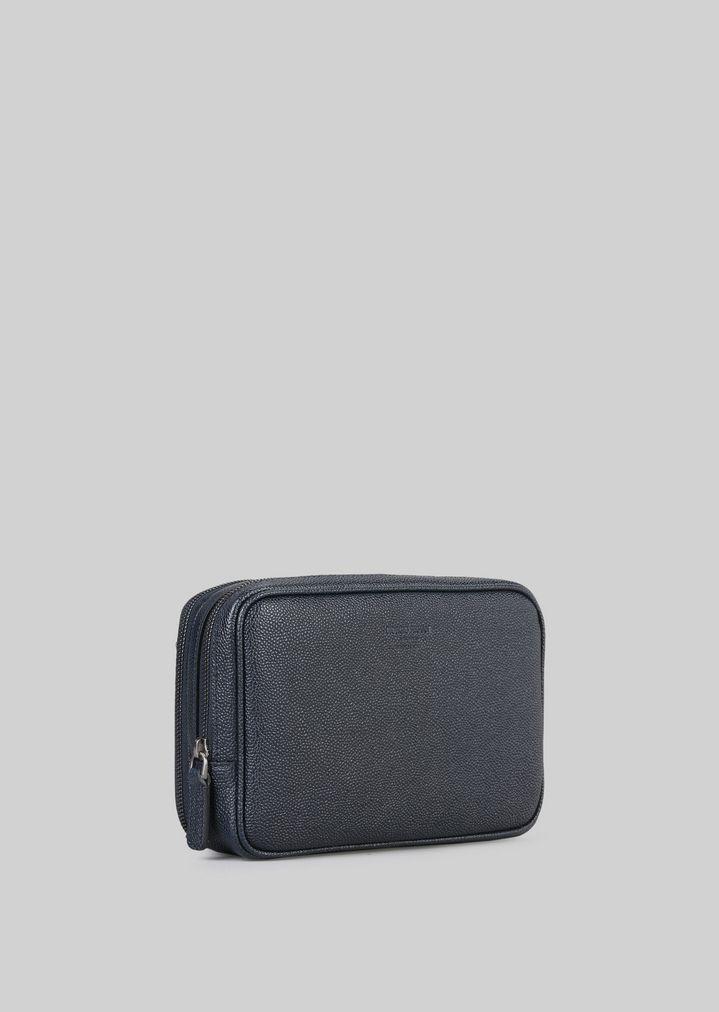 GIORGIO ARMANI コインパース レザー製 マネーバッグ メンズ d