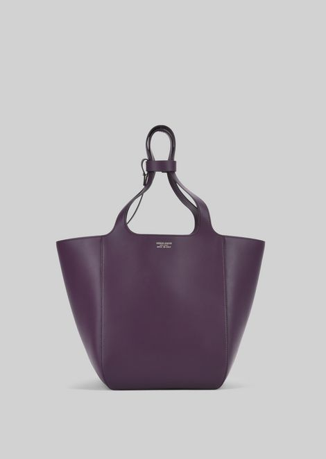 TOTE BAG IN VEGETABLE TANNED CALFSKIN