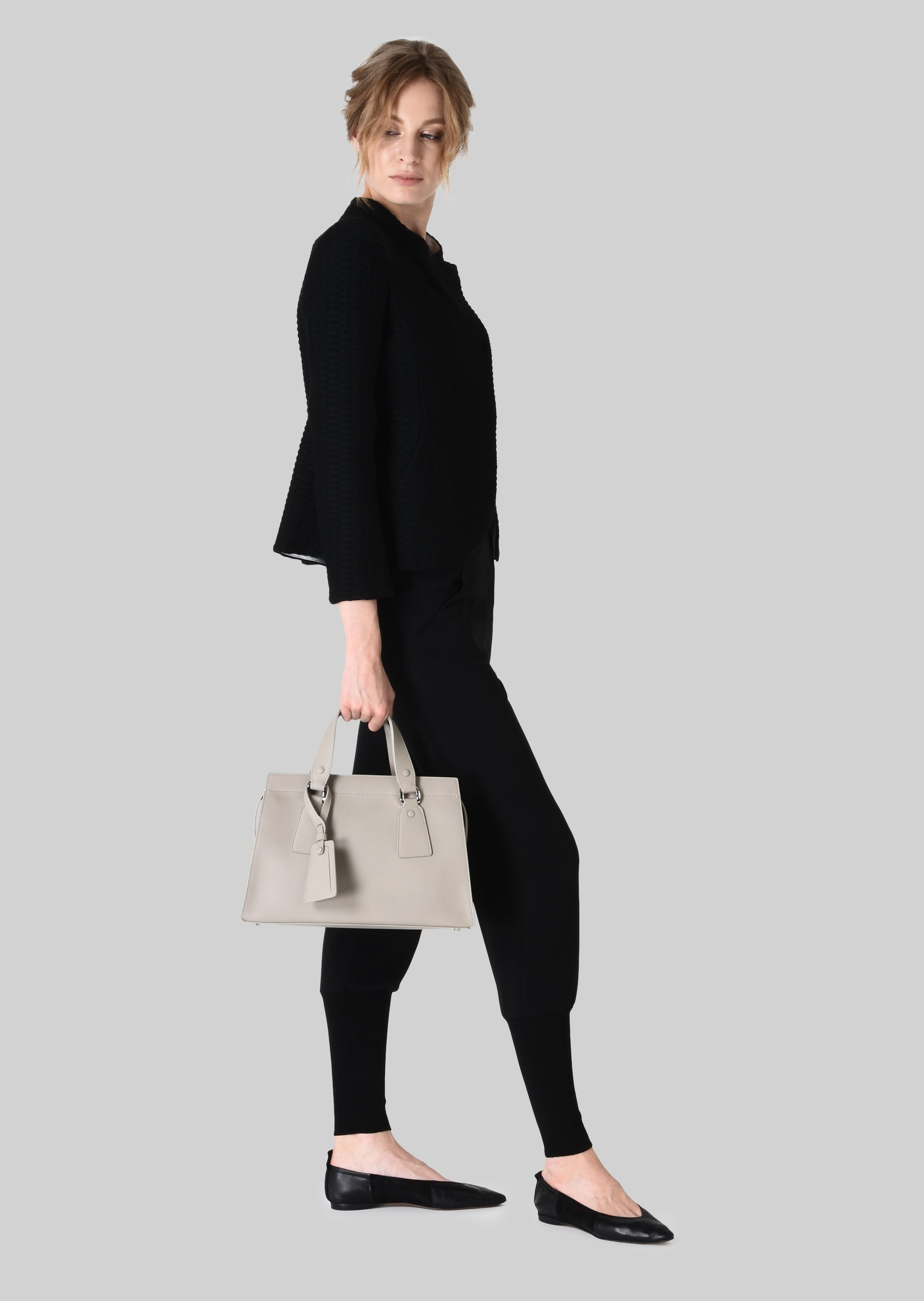 GIORGIO ARMANI TOP HANDLE BAG IN VEGETABLE TANNED CALFSKIN Top Handle D r