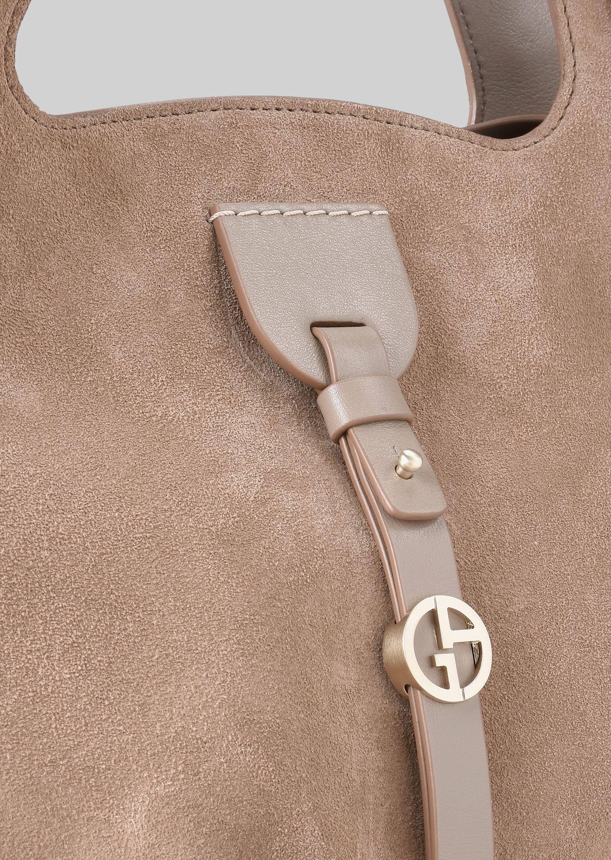 GIORGIO ARMANI SHOULDER BAG IN SUEDE LEATHER Shoulder Bag D b