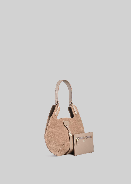 GIORGIO ARMANI SHOULDER BAG IN SUEDE LEATHER Shoulder Bag D d