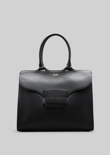 TOP HANDLE BAG IN LEATHER