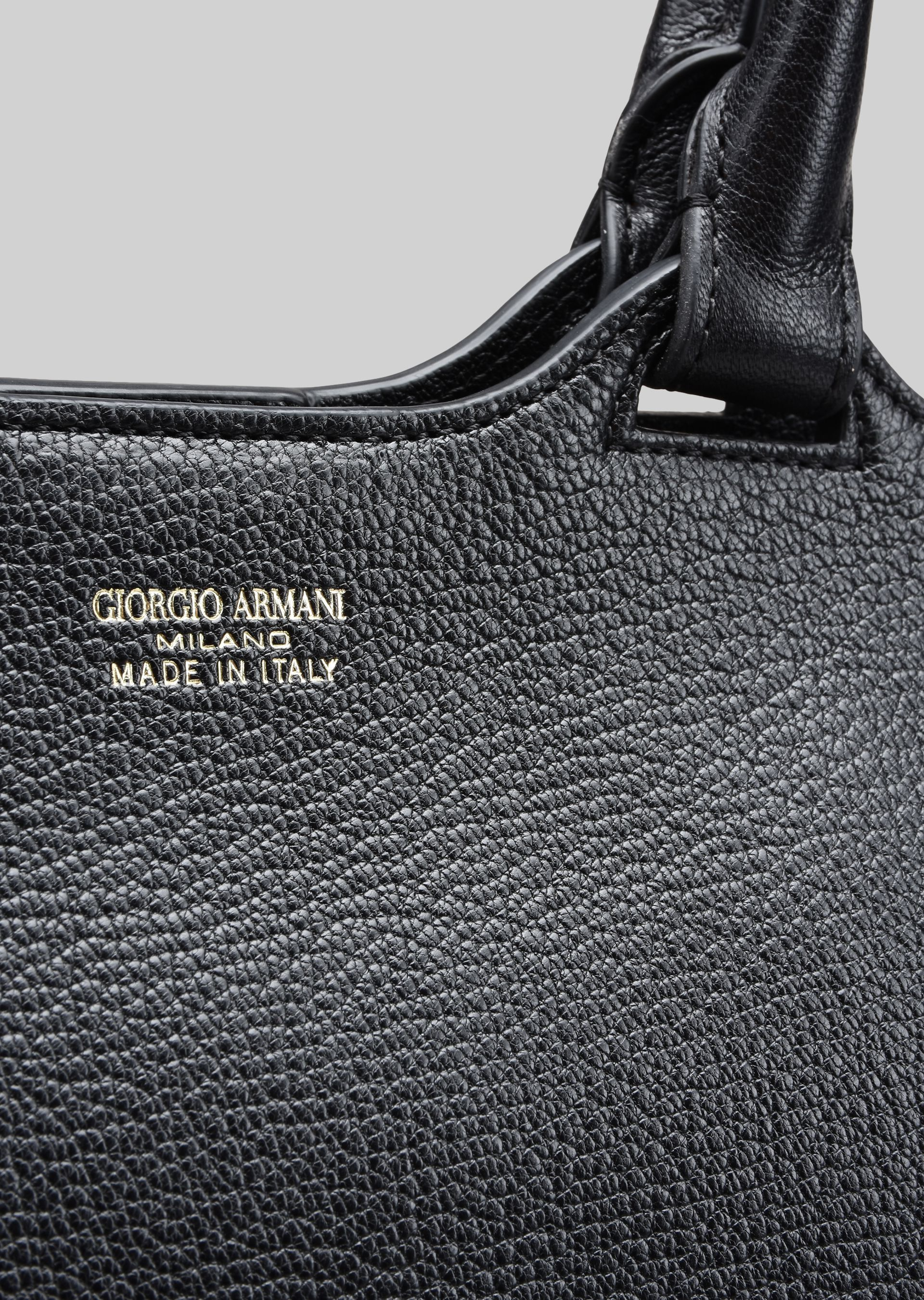 GIORGIO ARMANI TOP HANDLE BAG IN LEATHER Top Handle D b