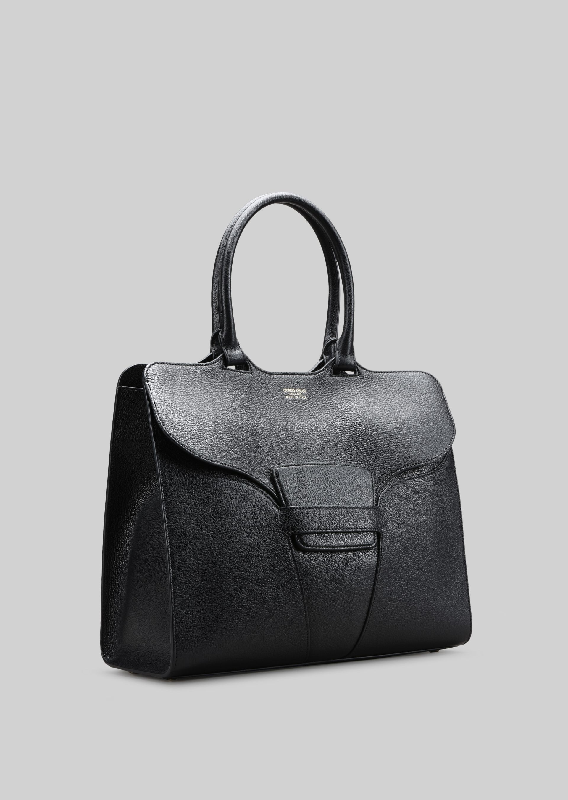 GIORGIO ARMANI TOP HANDLE BAG IN LEATHER Top Handle D d