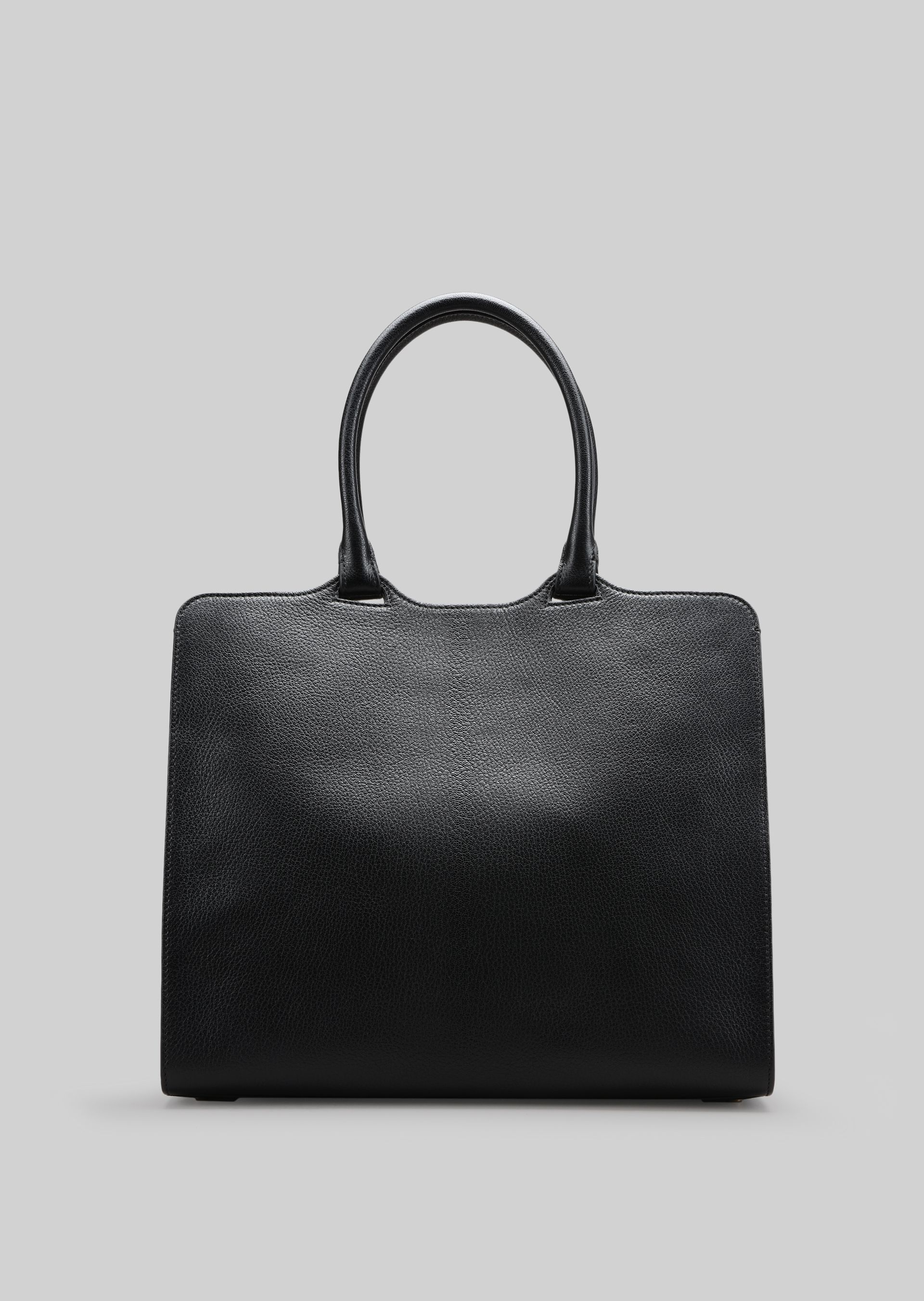 GIORGIO ARMANI TOP HANDLE BAG IN LEATHER Top Handle D e