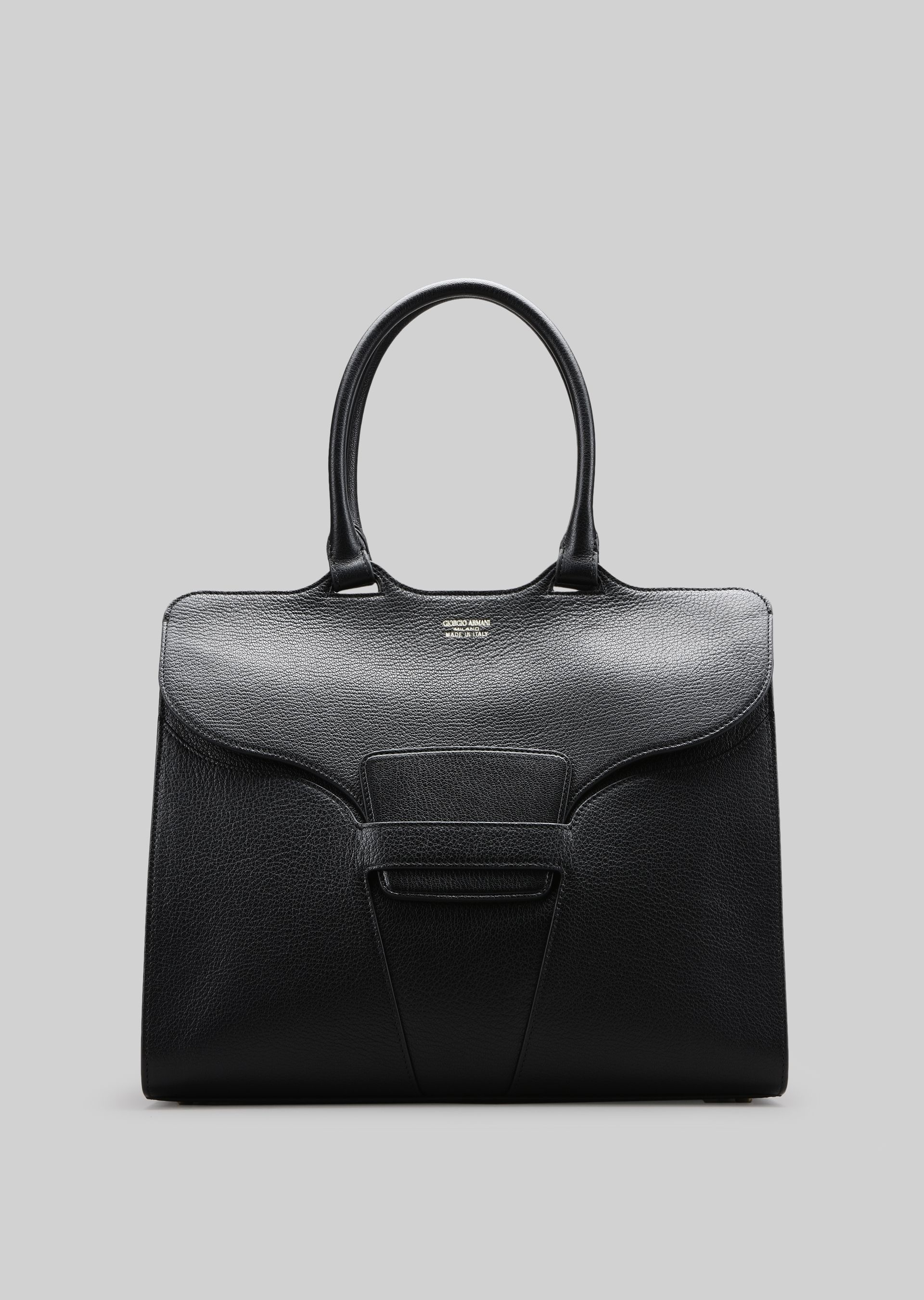 GIORGIO ARMANI TOP HANDLE BAG IN LEATHER Top Handle D f