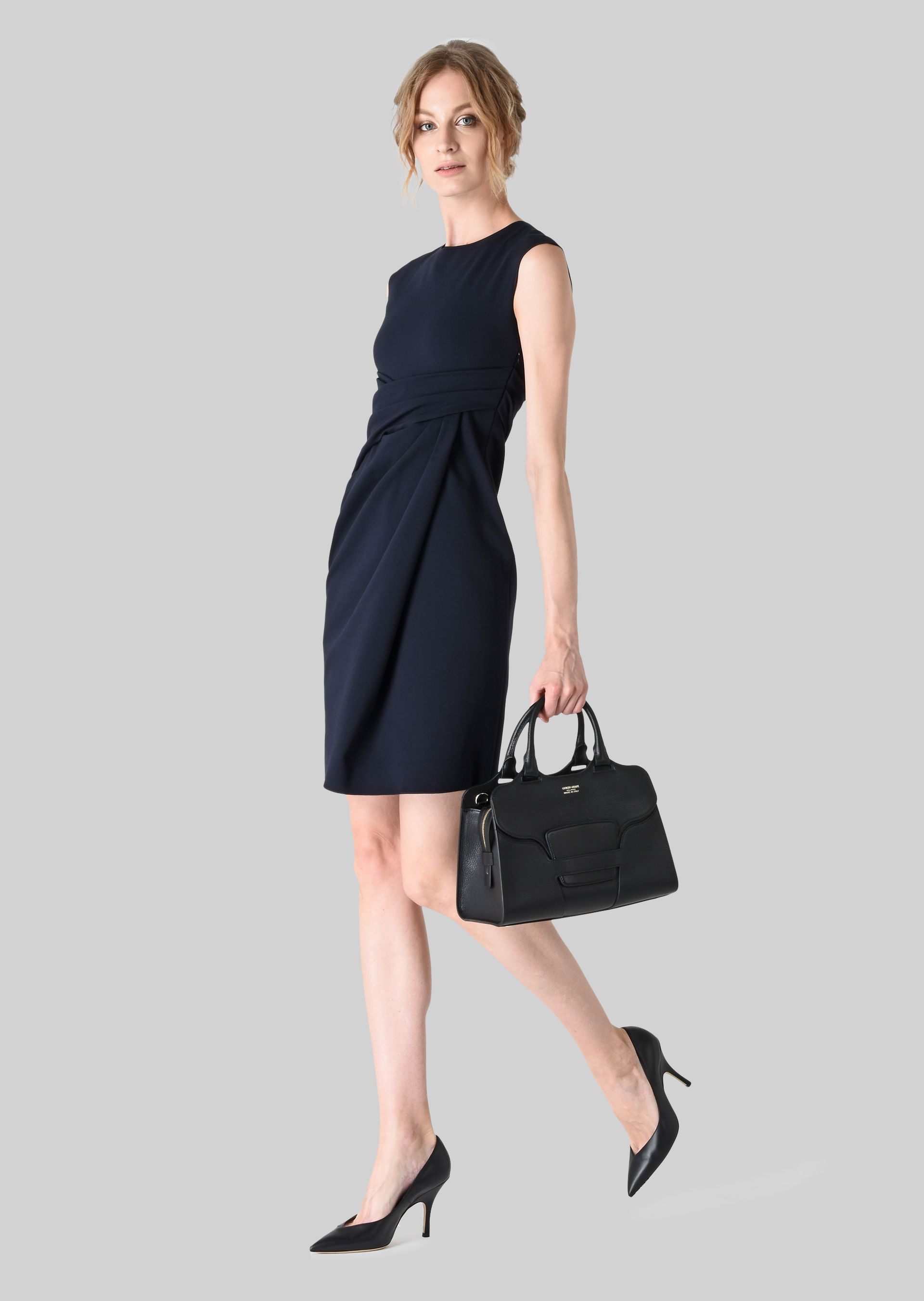 GIORGIO ARMANI TOP HANDLE BAG IN LEATHER Top Handle D r