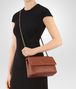 BOTTEGA VENETA SMALL OLIMPIA BAG IN DARK CALVADOS INTRECCIATO NAPPA Shoulder Bag Woman ap