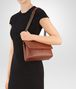 BOTTEGA VENETA SMALL OLIMPIA BAG IN DARK CALVADOS INTRECCIATO NAPPA Shoulder Bag Woman lp