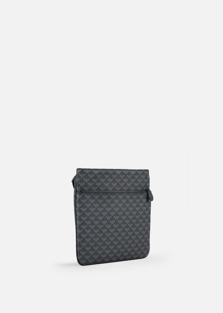 4383fdf80 LOGO PRINT PVC FLAT CROSS BODY BAG | Man | Emporio Armani