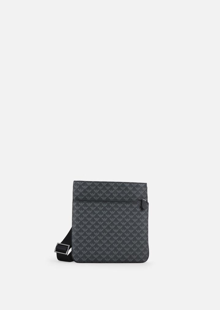 5401085c120 LOGO PRINT PVC FLAT CROSS BODY BAG | Man | Emporio Armani
