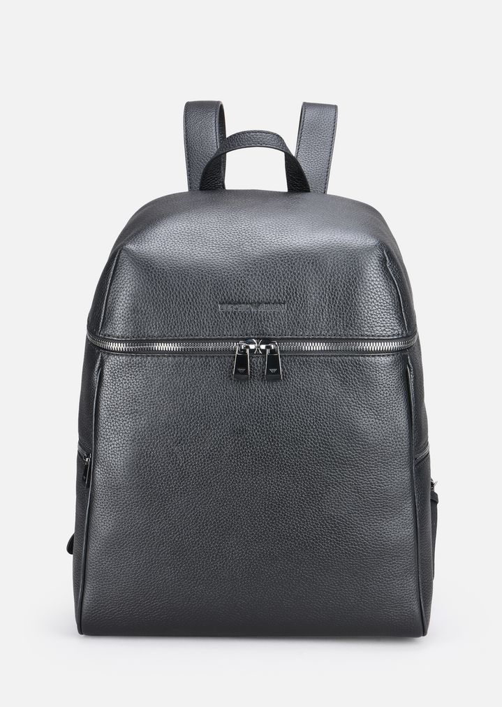 GRAINY LEATHER BACKPACK   Man   Emporio Armani fab052a1807