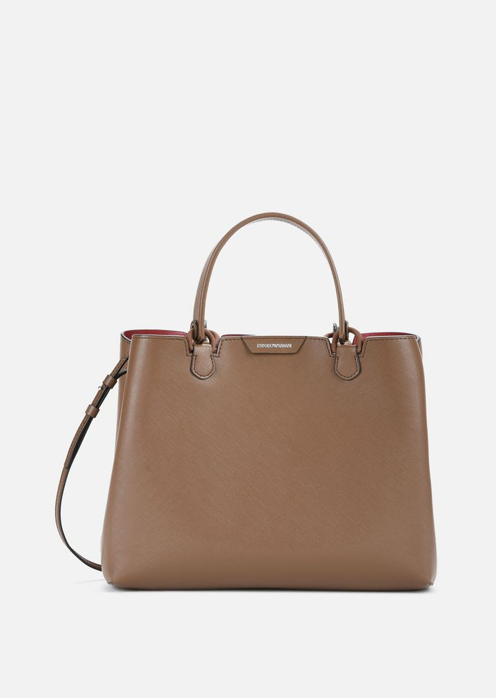 04cf37c67ca5 LEATHER TOTE WITH DETACHABLE STRAP